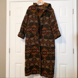 Woolrich Reversible Southwestern Blanket Coat